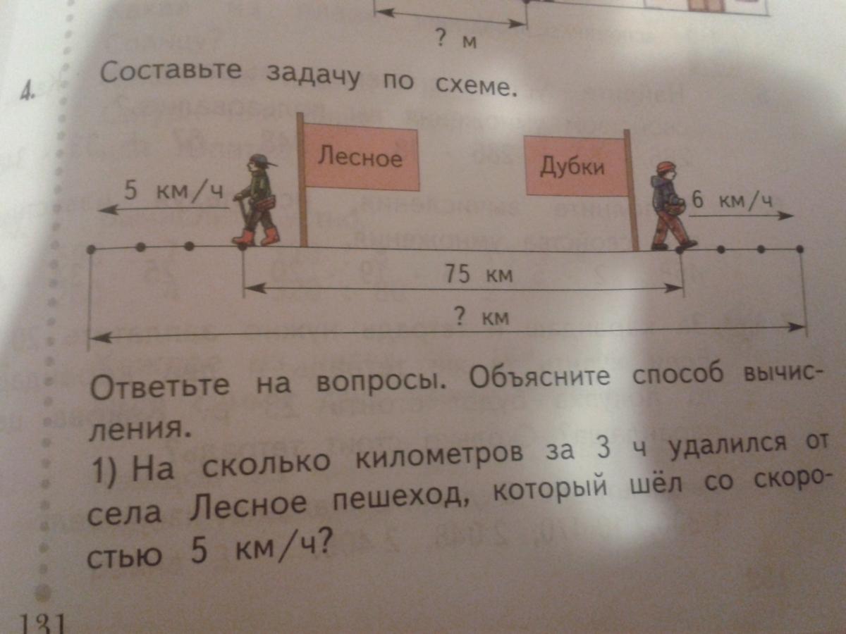 Как составить задачу по схеме для 3 класса