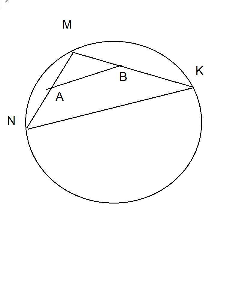 Из точки М, лежащей на окружности, проведены две