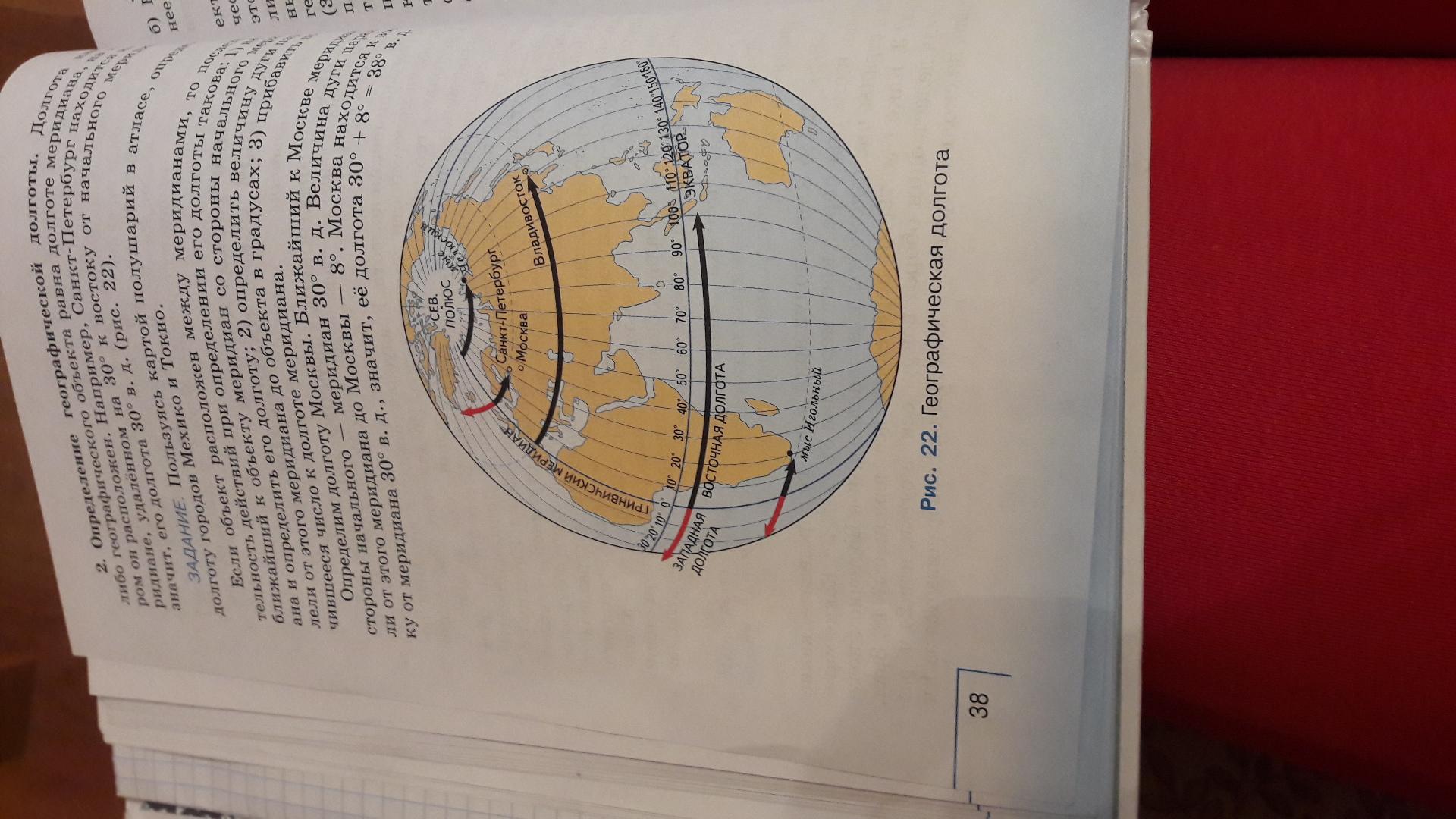 Latitude, longitude diagram