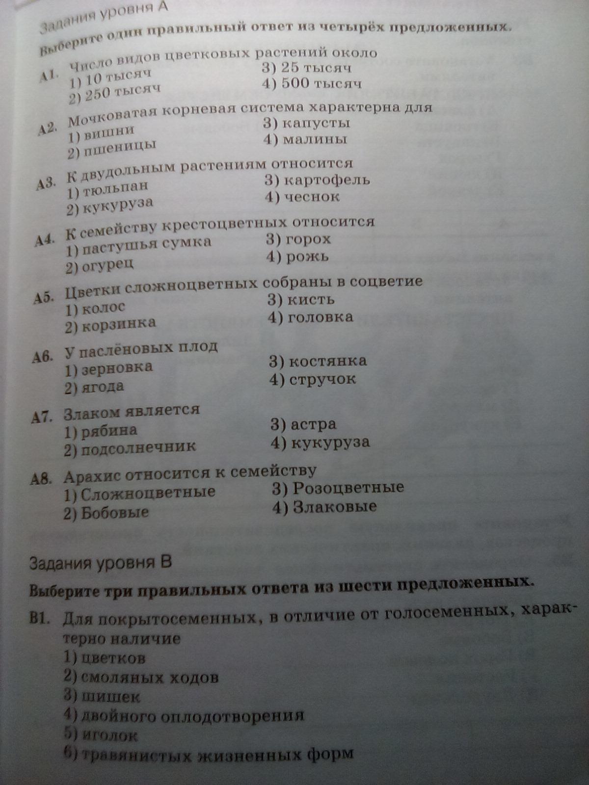 Тесты гекалюк по биологии 8 класс