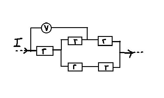 Пять одинаковых резисторов с сопротивлением r=2
