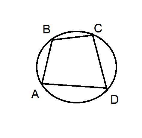 Четырёхугольник A B C D вписан в окружность. Угол