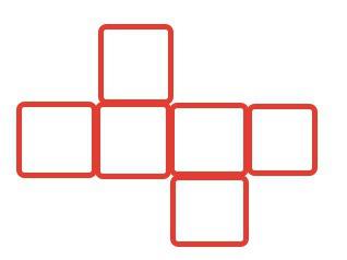 Разрежь фигуру на 4 одинаковые части резать можно только по сторонам - 45