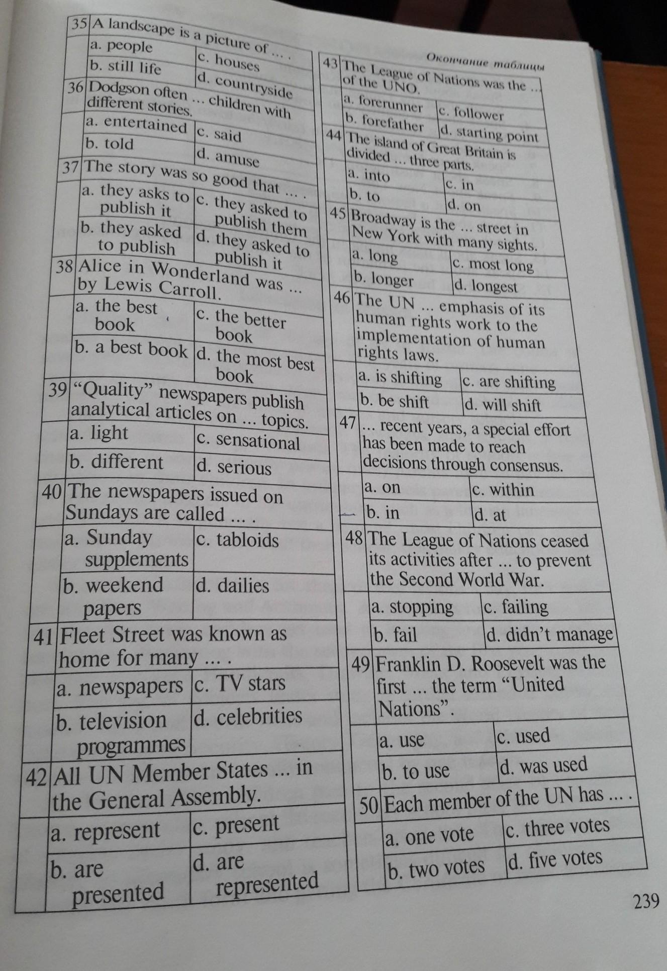 Помогите с тестом по английскому пожалуйста.