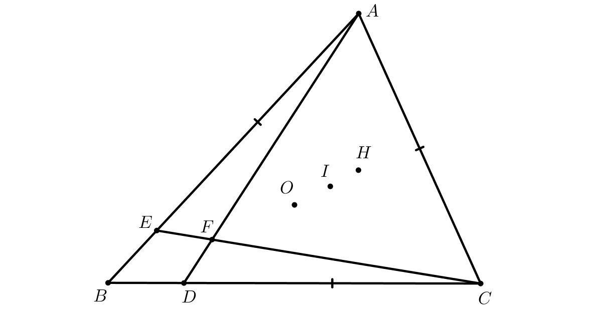 На сторонах AB и BC треугольника ABC выбраны точки