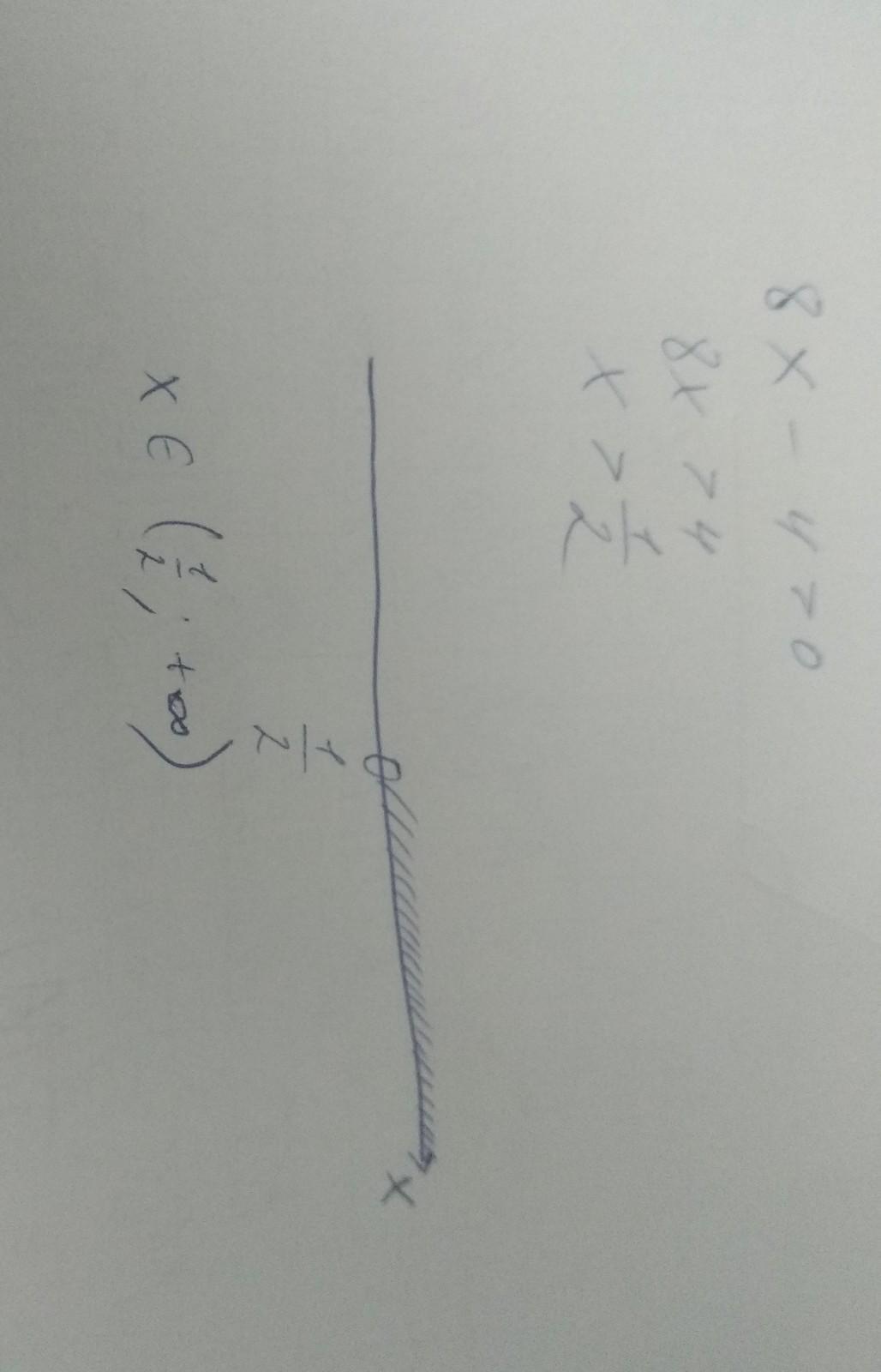 8x-2²>0 решите неравенство  8x-2^2>0 Нужно