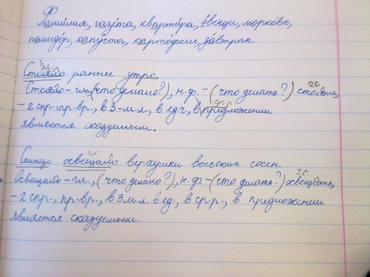 2 класс схема предложения