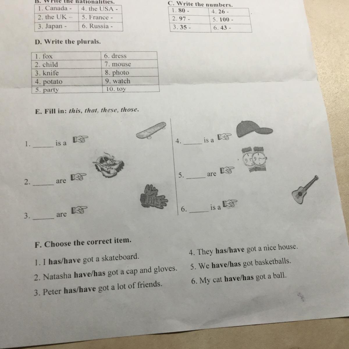 Помогите пожалуйста решить E и F заранее спасибо! Загрузить png