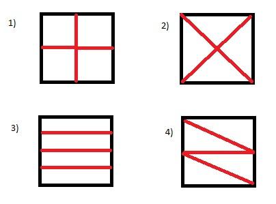 Картинки разделенные на пять частей