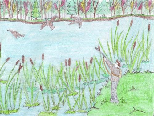 Рисунки карандашом к рассказу васюткино озеро