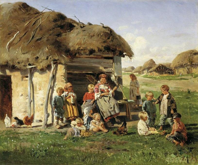 расказ про деревню деканьку
