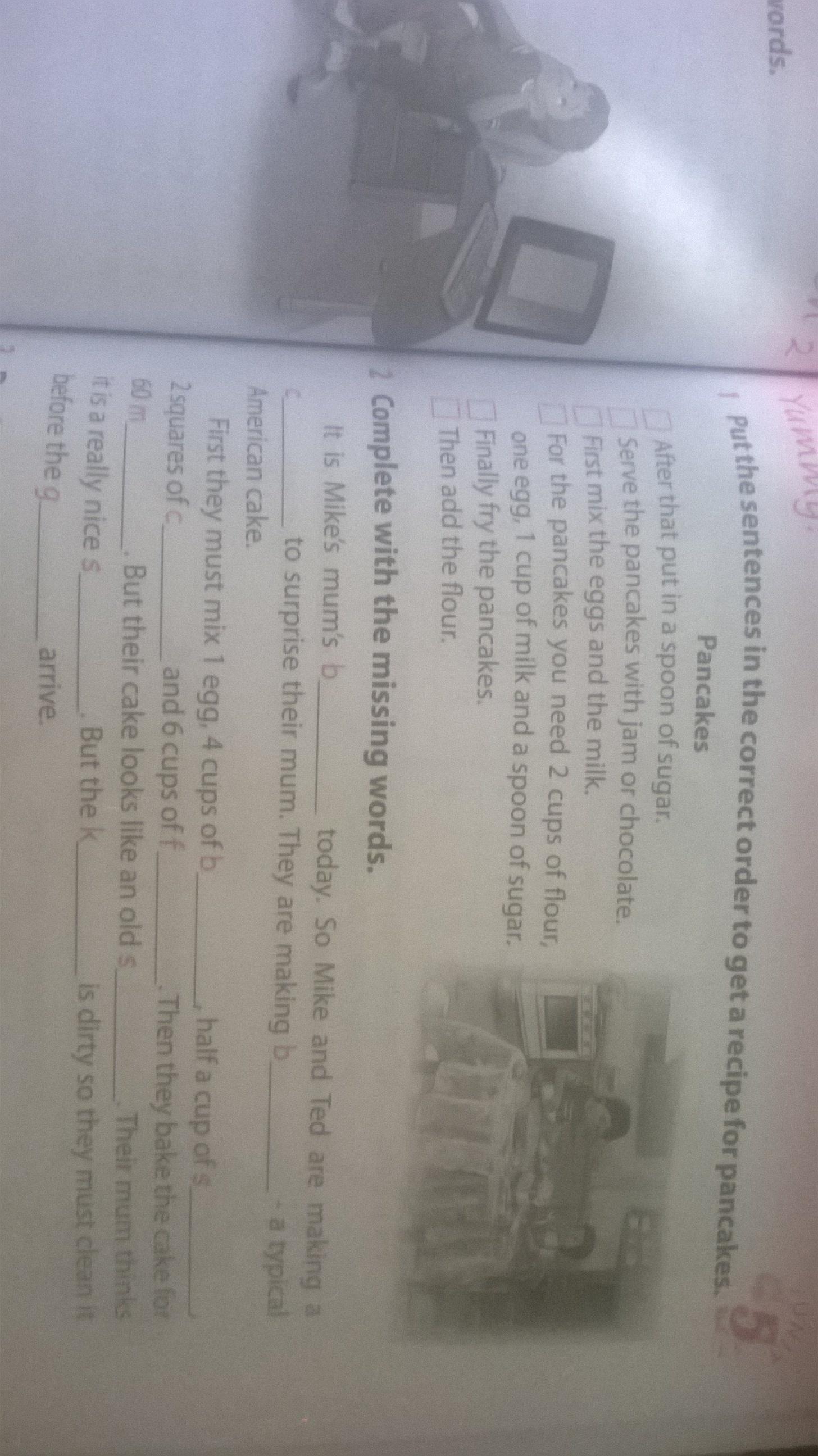Помогите пожалуйста сделать 1-2 упражнение по английскому языку