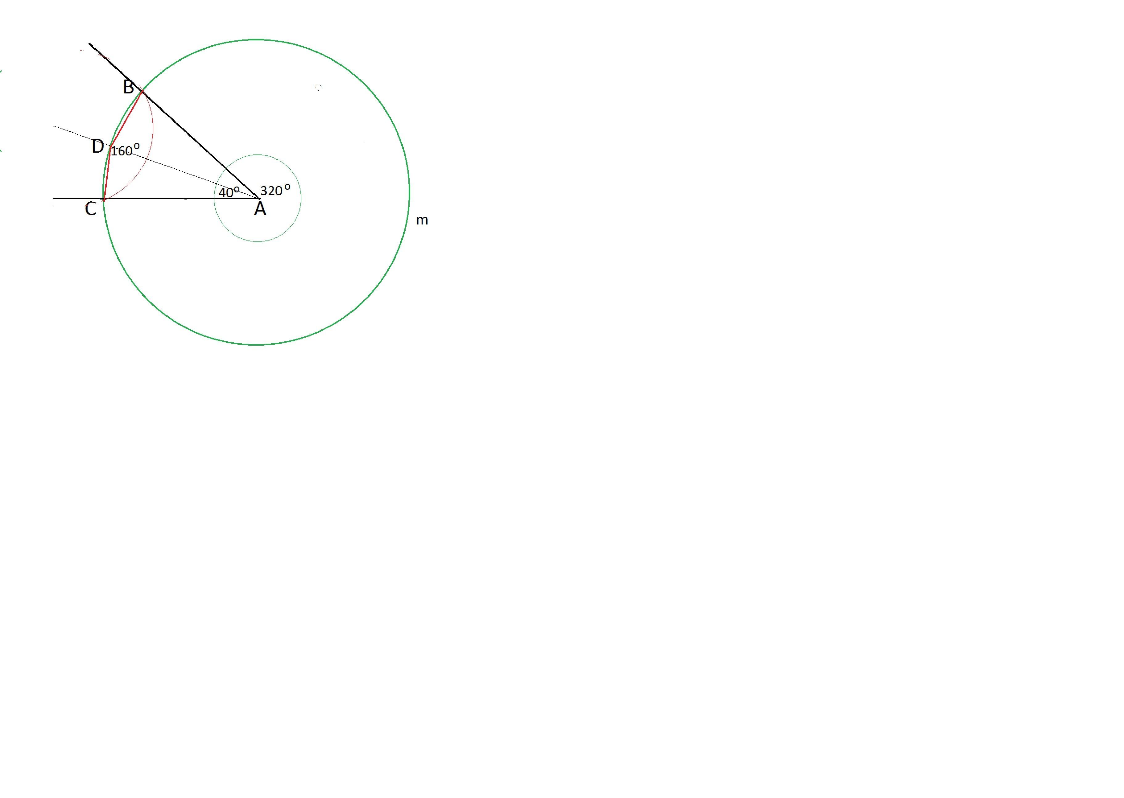 Из вершины угла А, как из центра, произвольным радиусом наче