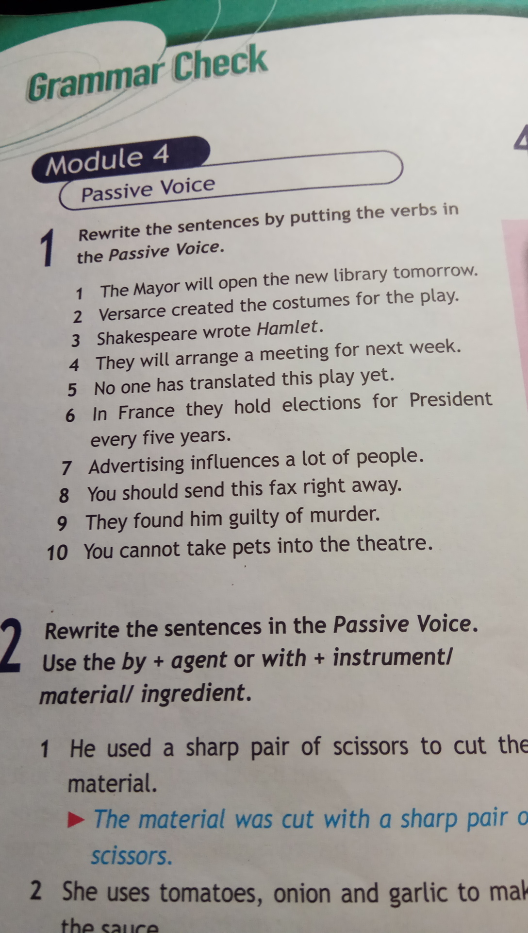 the passive voice essay Exercises on passive use of passive passive voice is used when the focus is on the action it is not important or not known, however, who or what is performing the action.
