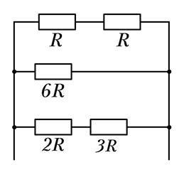 В резисторе сопротивлением R верхней ветви