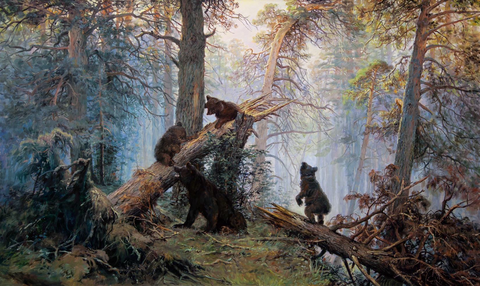 утро в сосновом лесу картинки слишком большой
