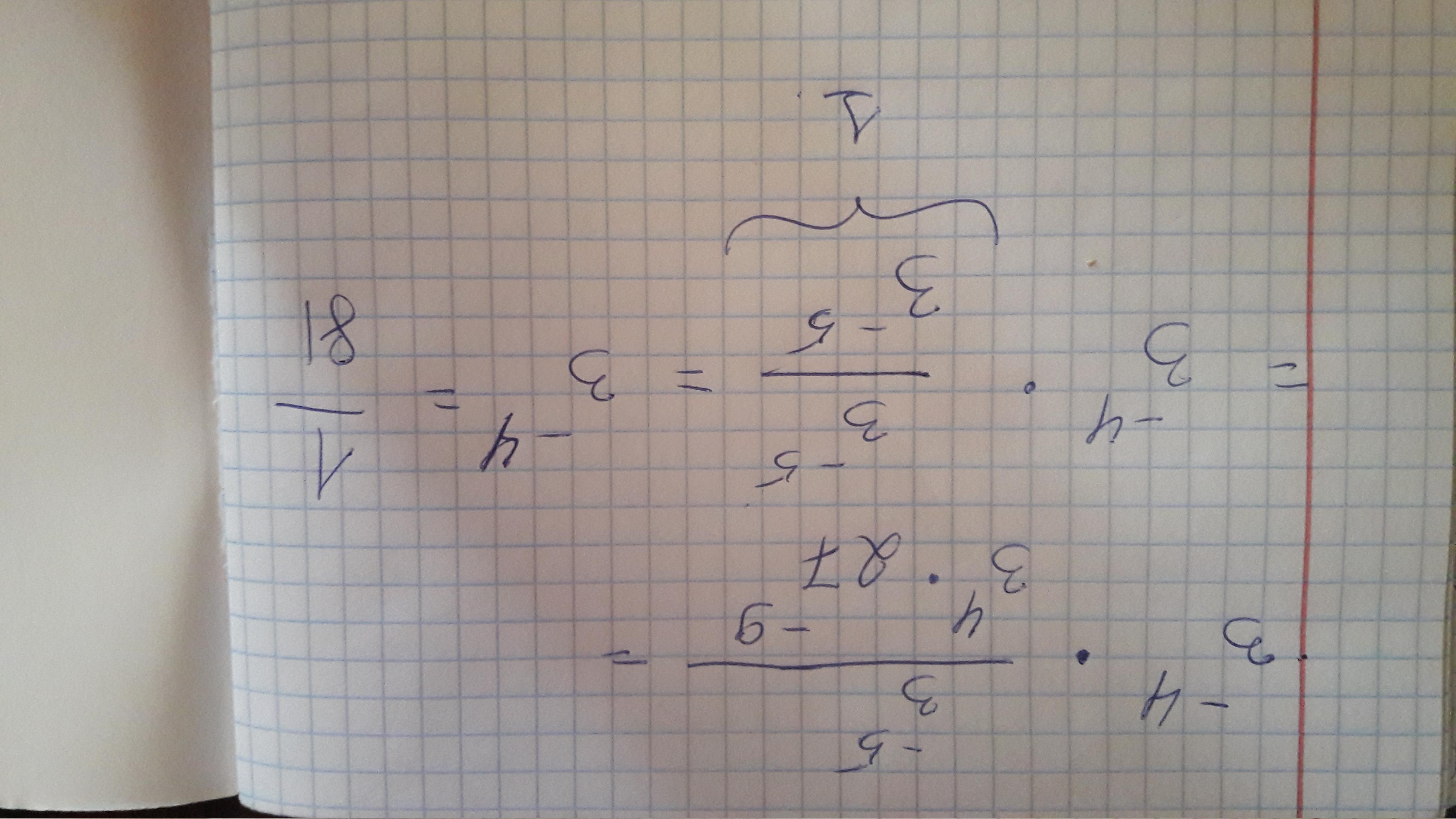Если запись правильная,то так. в общем тогда 9^-2 можно сраз