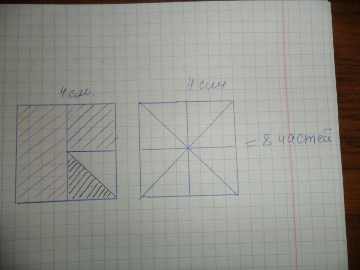 Четвертая часть квадрата рисунок
