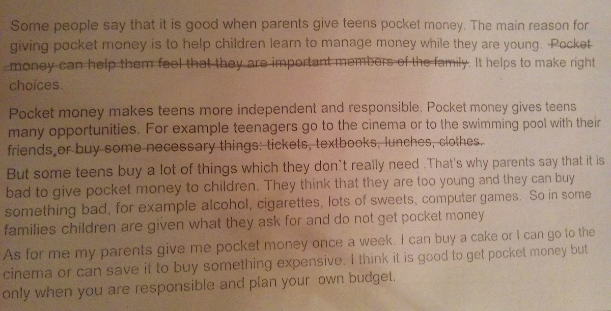 should pocket money be given to teenagers Many parents believe that a certain amount of pocket money should be given to the child just because he is a member of the family and not pocket money and teenagers.
