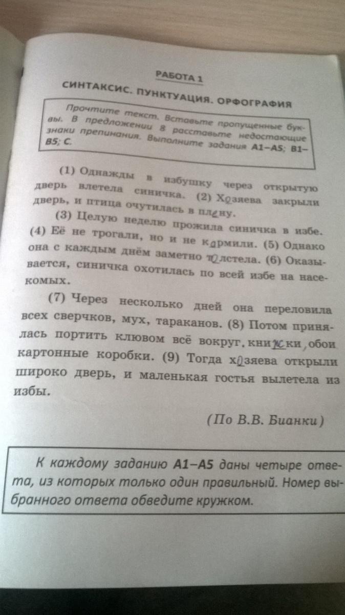 русский язык промежуточный экзамен 5 класс ответы