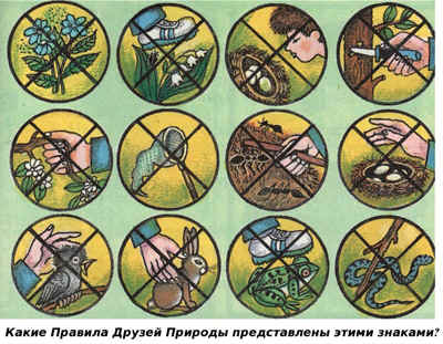 Знаки охраны природы 1 класс картинки