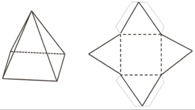 Как сделать из бумаги четырехгранную пирамиду
