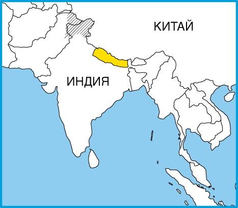 Где находится непал по карте