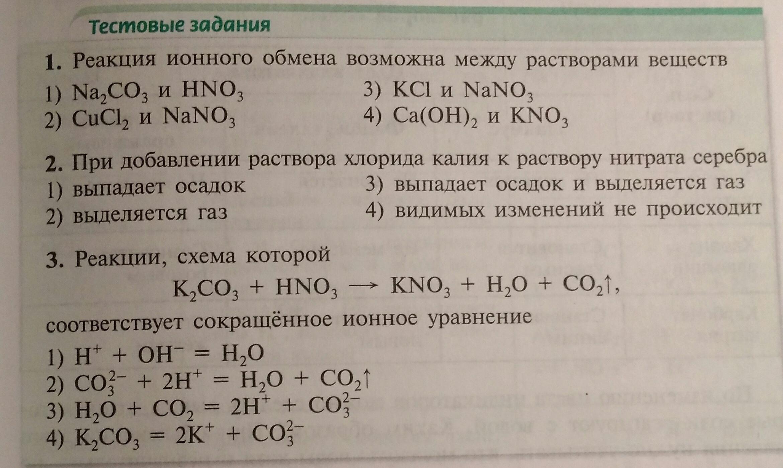 Схемы реакции ионного обмена