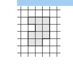 На клетчатой бумаге нарисована фигура. Сторона клетки равна 1 см. Найдите: а) площадь фигуры; б) периметр фигуры.Загрузить png