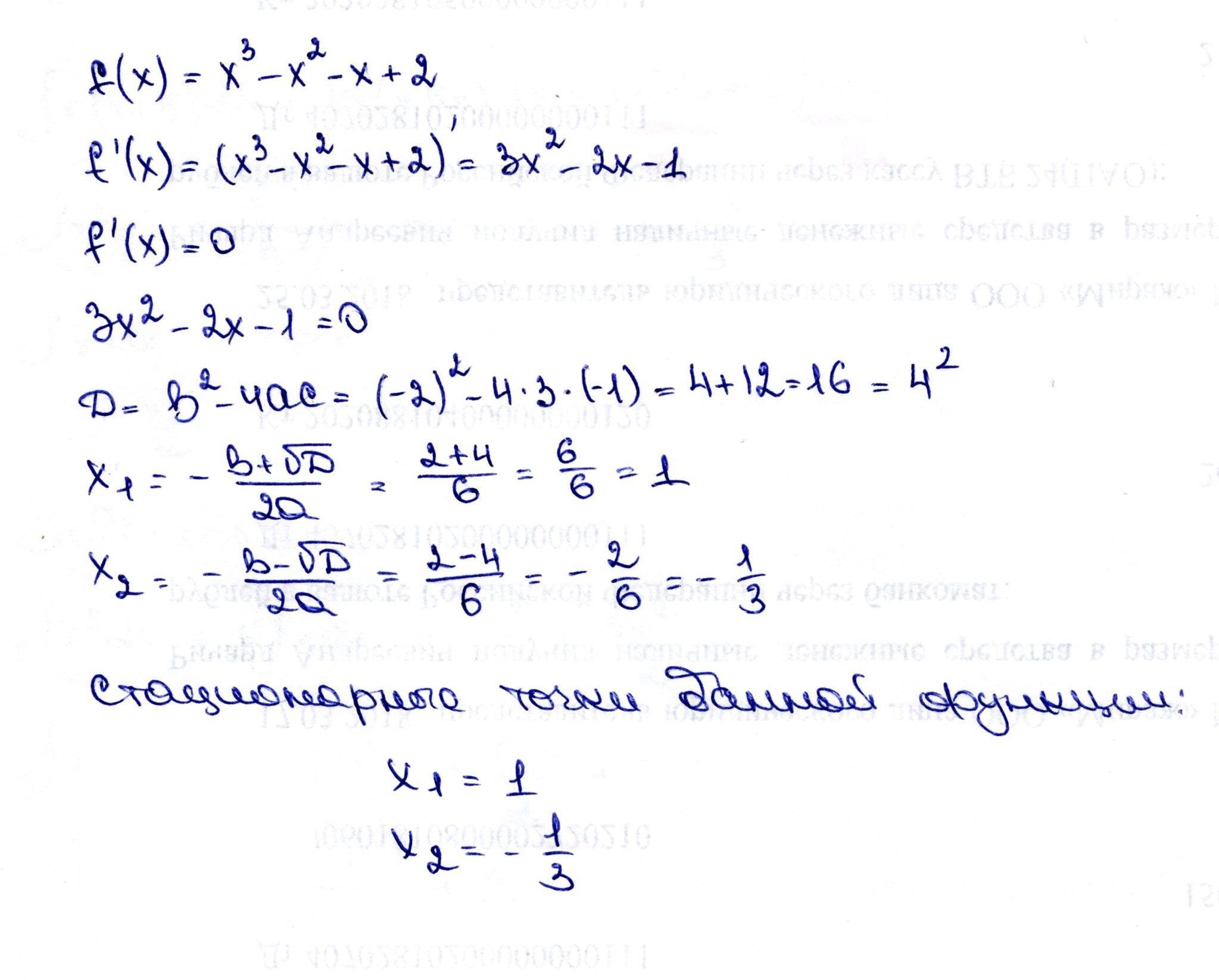 Найти стационарные точки функции f(x)