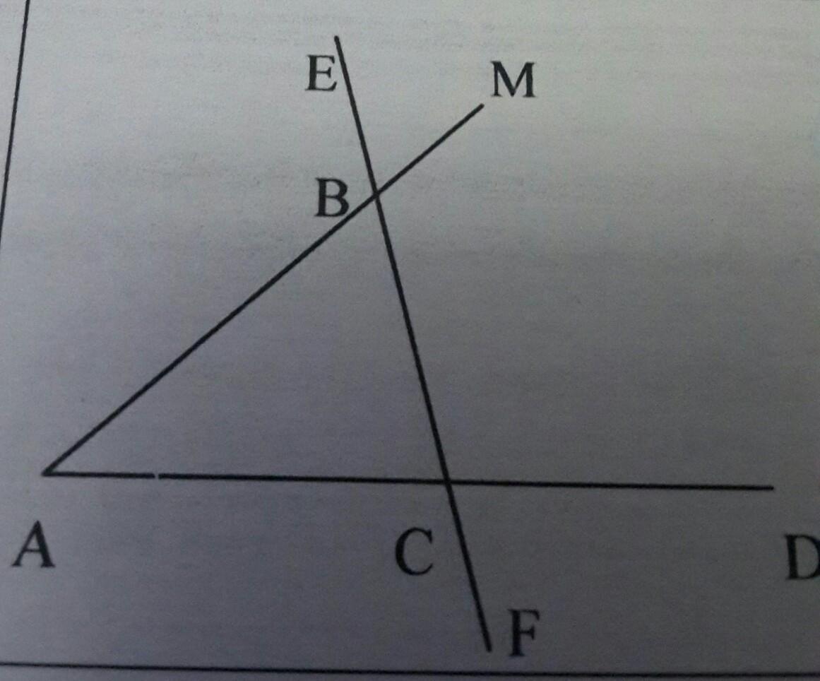 На рисунке угол ABE=114° угол DCF=76° найдите углы