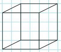 Построй на листе бумаги в клетку изображения куба