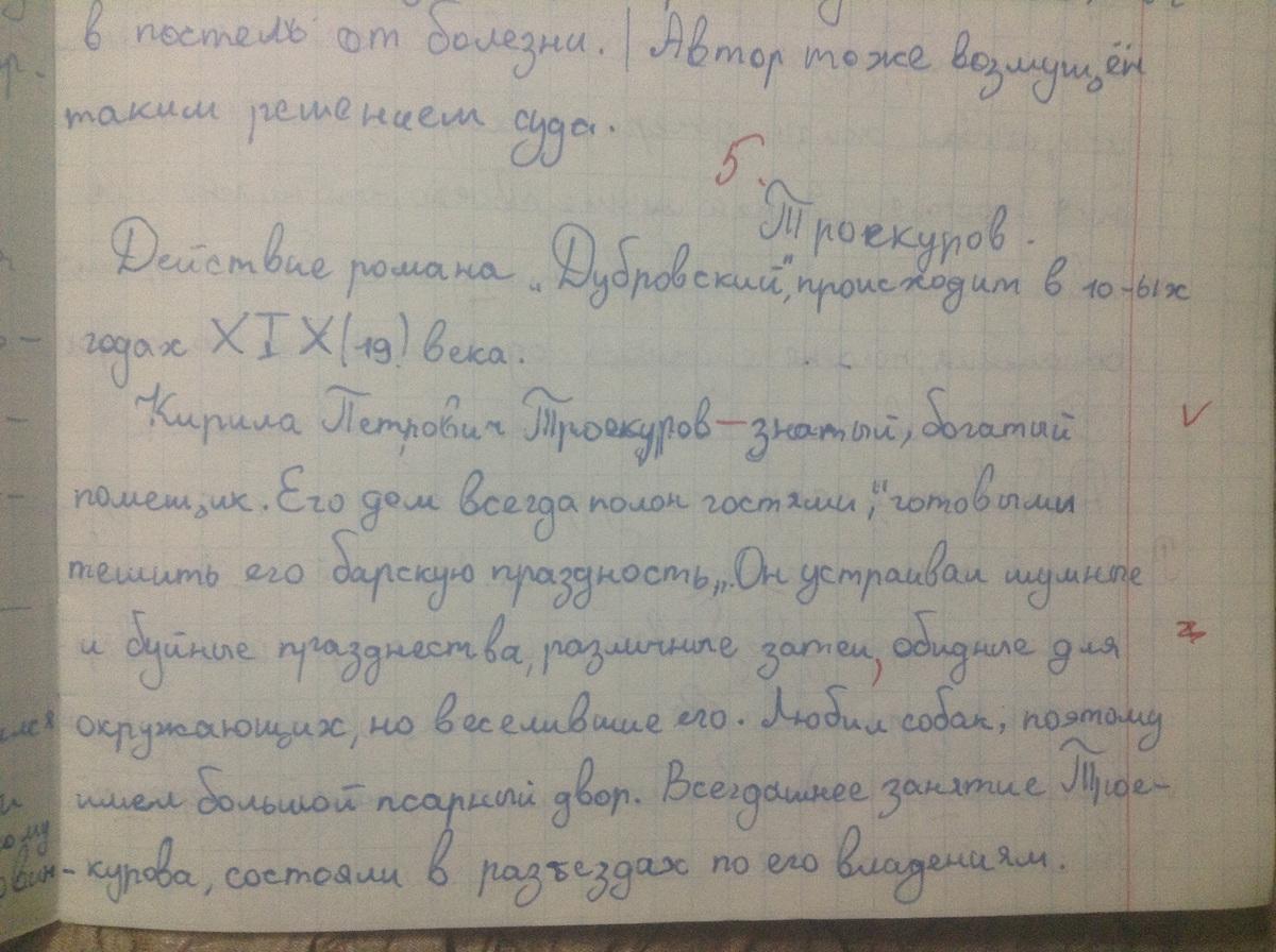 Сочинение на тему мое мнение о дубровском 6 класс