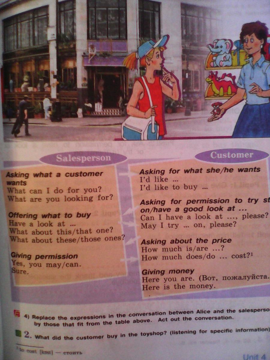 Английский язык диалог про одежду