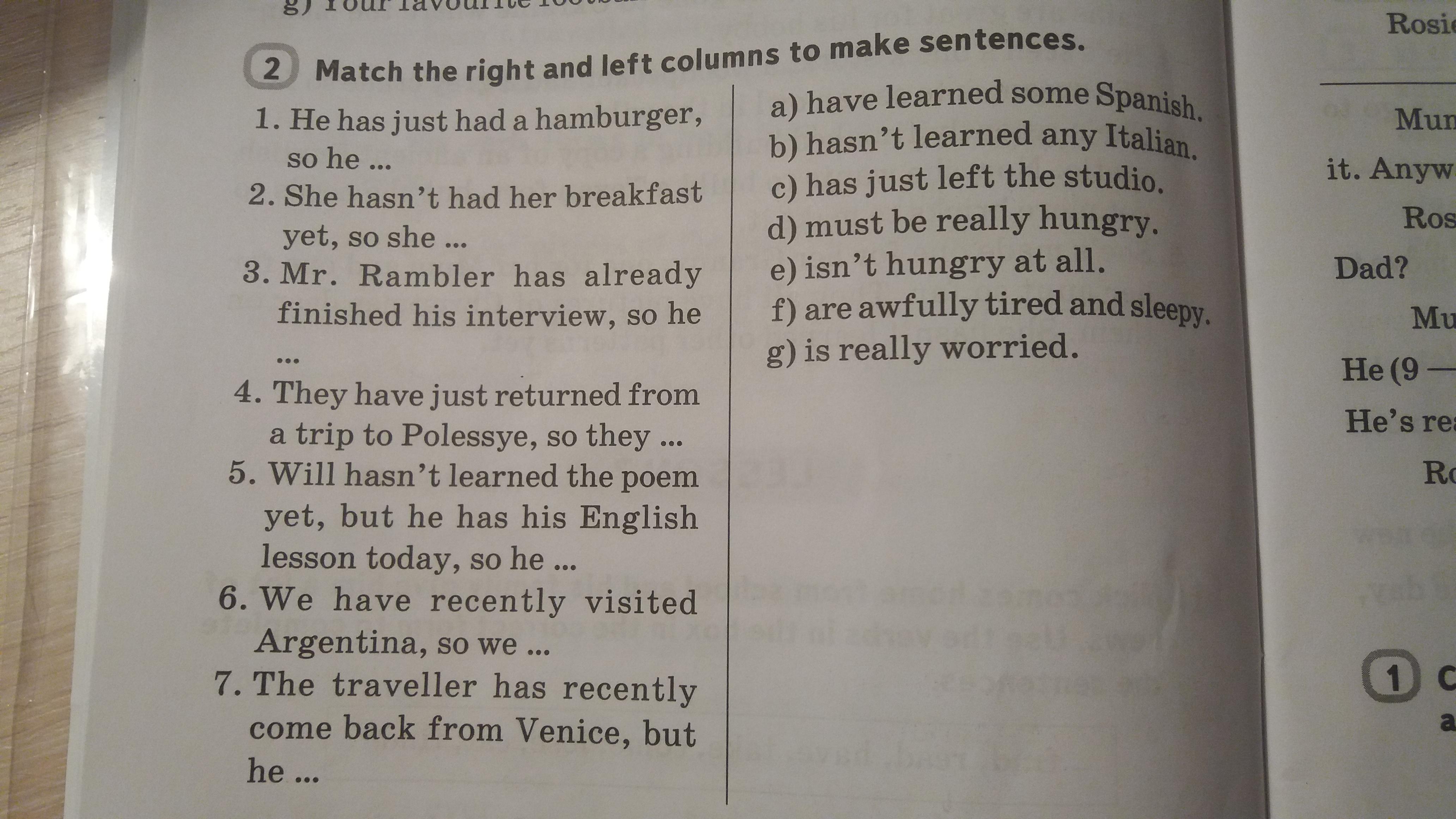 ДАМ 16 баллов. ПОМОГИТЕ!!!!!!!!! 6 класс, англ. язык, WB ( ворбук) стр. 36 задание 2.