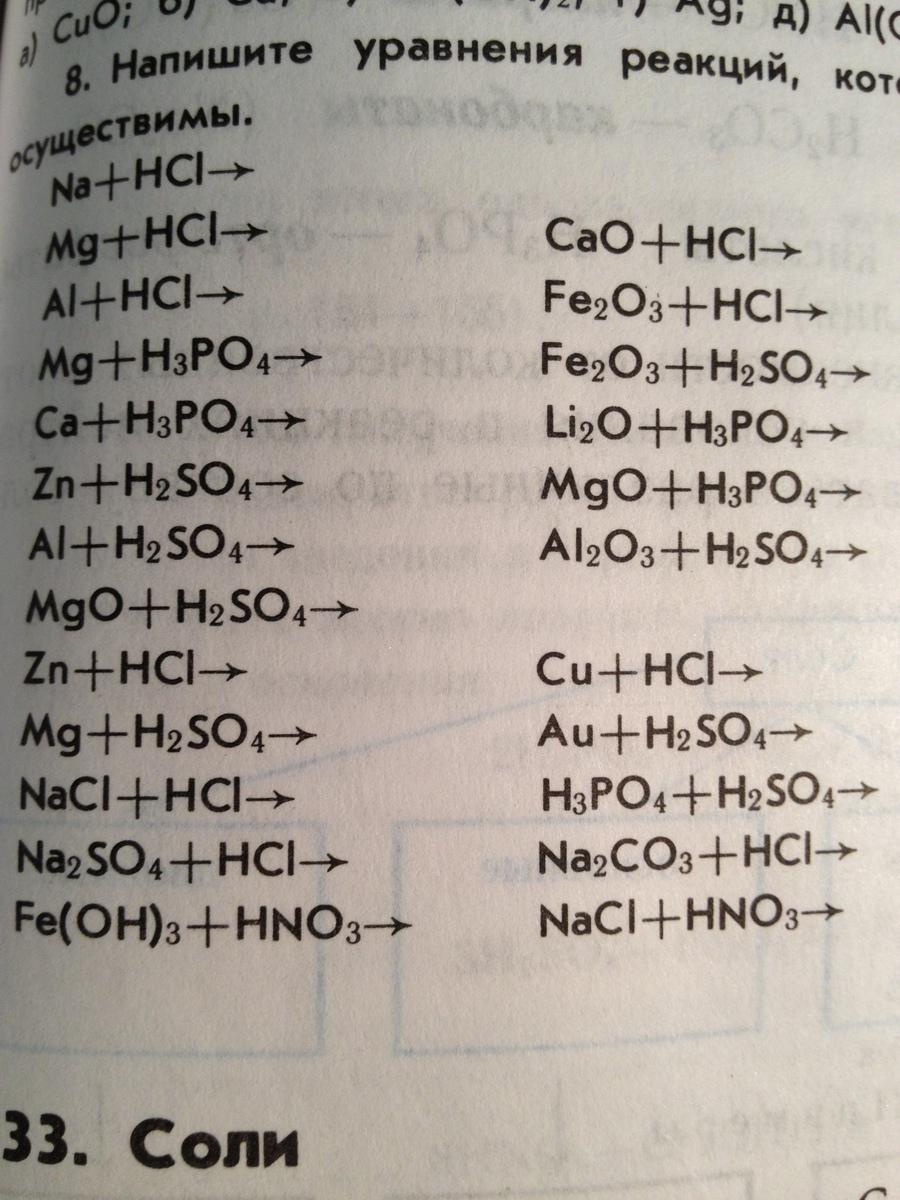 Из приведенных схем уравнений реакций выпишите реакции 154