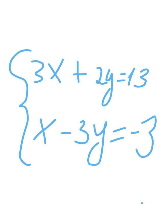 Решить систему уравнений с помощью определителя