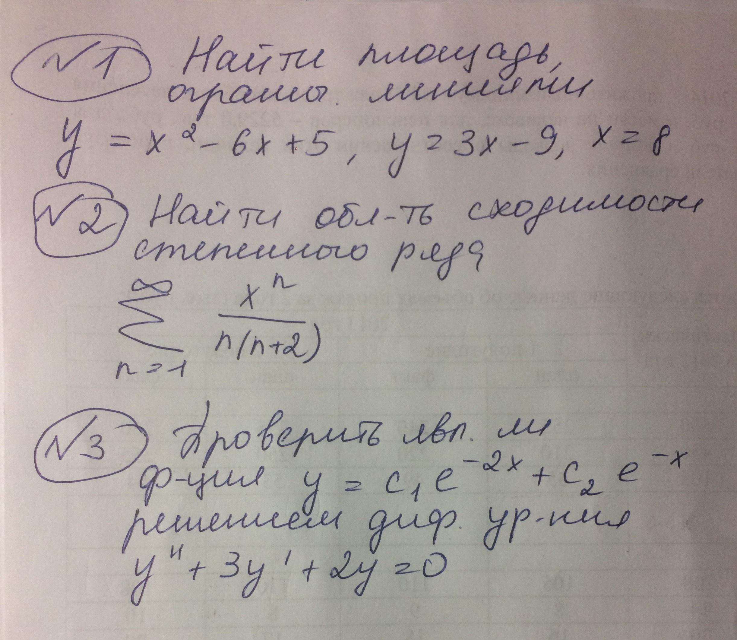 Помогите с мат анализом, пожалуйста.
