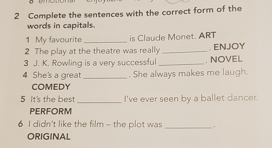 Completarfill in the blanks activity textbook ...