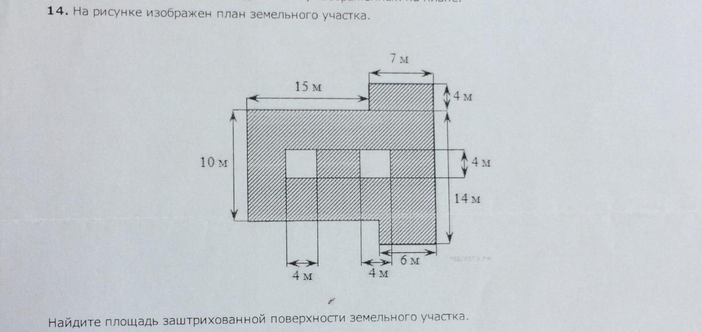 На рисунке изображен план земельного участка.