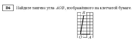 Тангенс угла аов изображенного на клетчатой бумаге