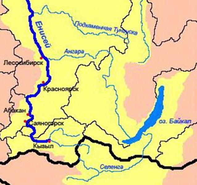 Где находиться река ангару 15