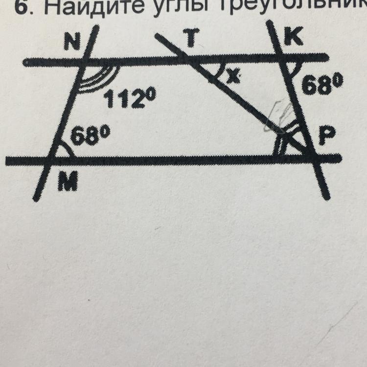 Найдите углы треугольника ТКР,если МРТ=ТКР