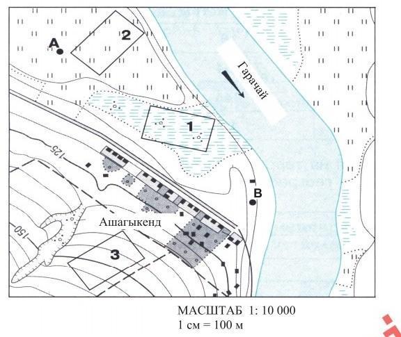 1)В каком направлении течет река Гарачай ?2)На