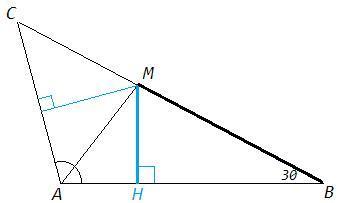 В треугольнике ABC проведена биссектриса AM. Сумма