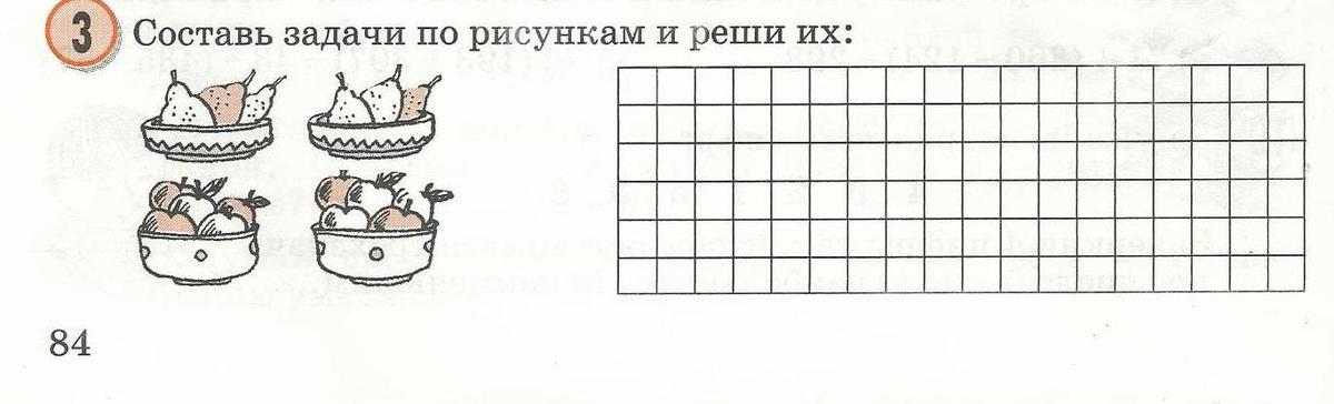 Составь задачи по рисункам и реши их тэц задачи с решением