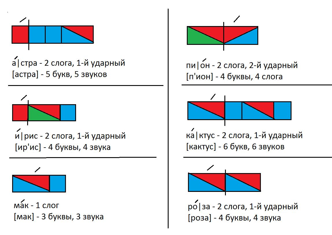 Звуковая схема слова 1 класс картинки фото 47