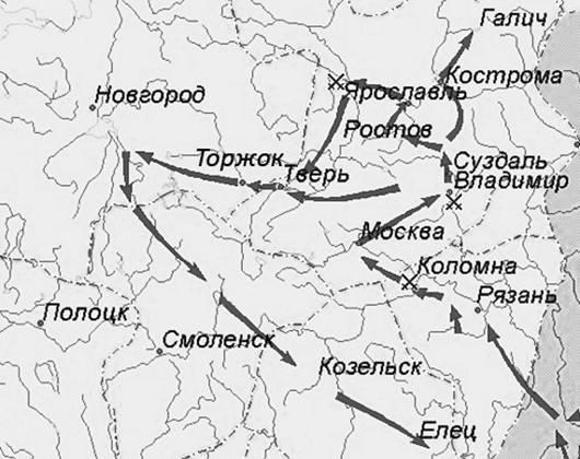 Схема военных походов