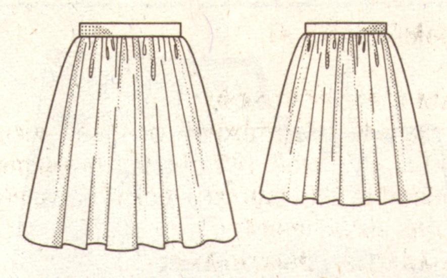Эскиз модели юбка