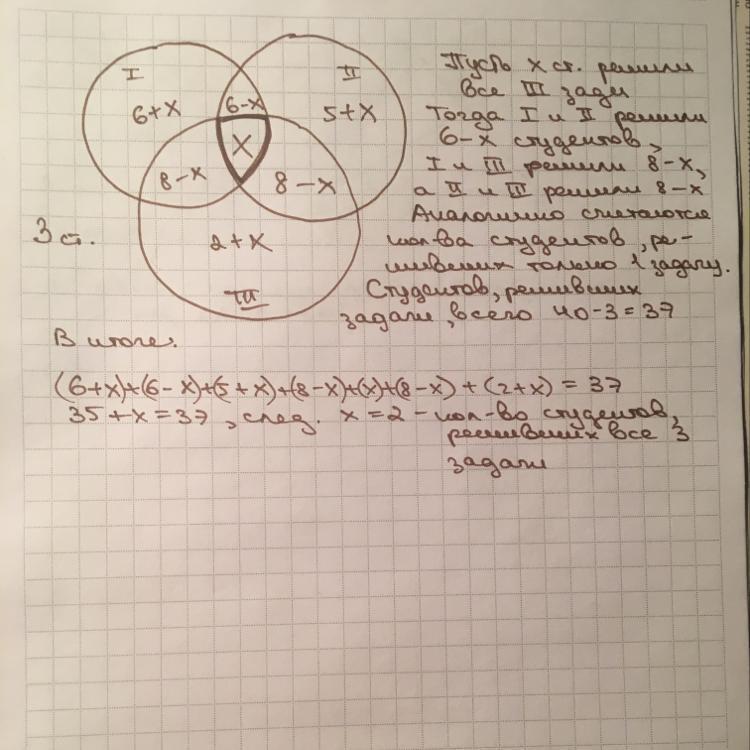 В тесте по дискретной математике приняло участие
